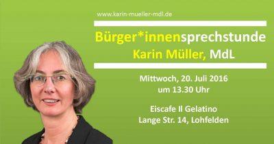 Bürgersprechstunde Karin TOP